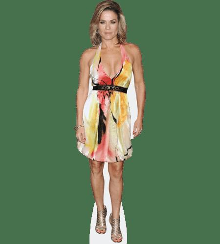 Cat Cora (Colourful Dress)
