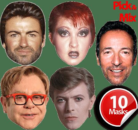 80's Pop Stars Mask Bundle