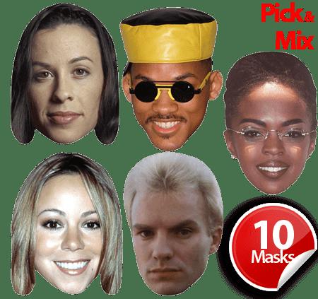 90's Pop Stars Mask Bundle