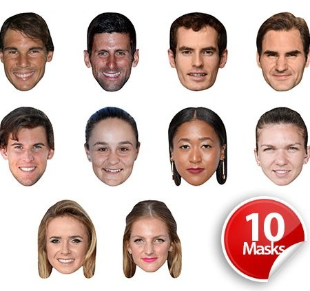 Tennis Players (New Stars) Mask Pack