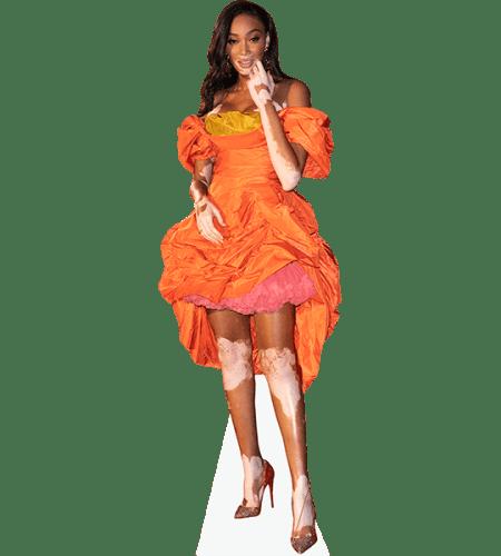 Winnie Harlow (Orange Dress)