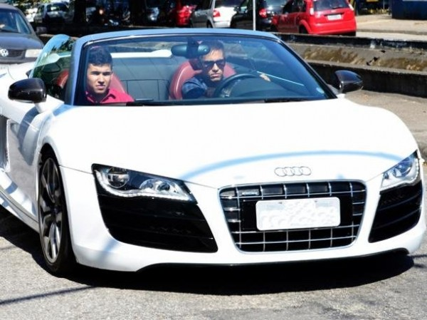 Image result for neymar with his Audi R8 GT car
