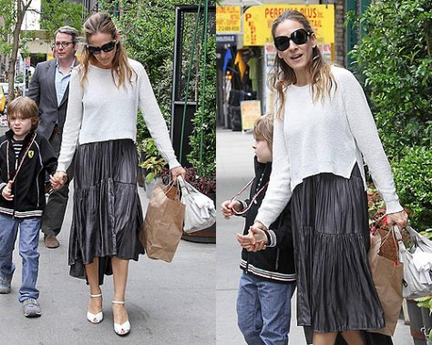 Sarah Jessica Parker looking very Carrie Bradshaw