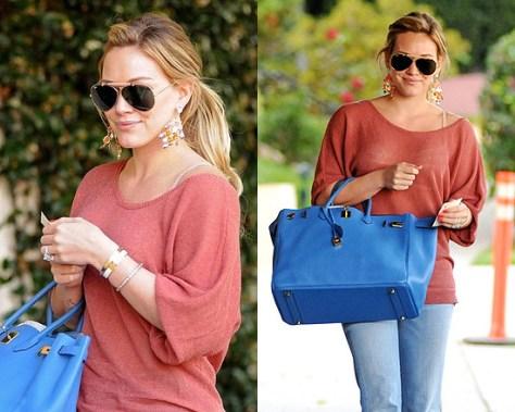 Hilary Duff wearing Kendra Scott Fancine Earrings