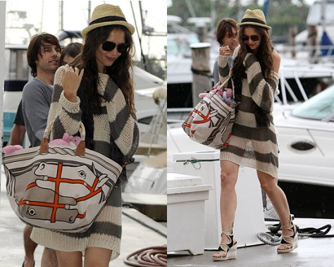 Katie Holmes wearing Pullover Sweater as Dress