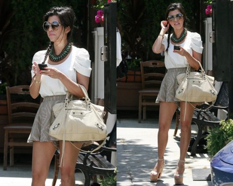 Kourtney Kardashian in Bec & Bridge Wild and Free Shorts