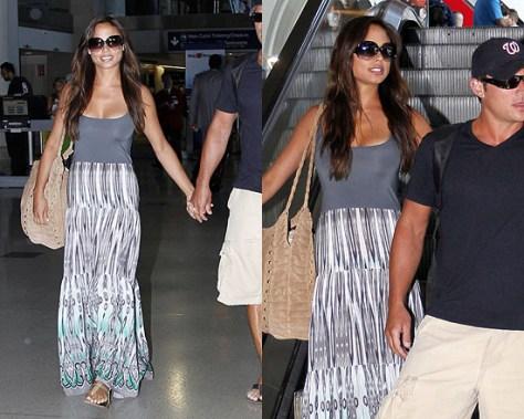 Vanessa Minnillo returns from Honeymoon in Jay Godfrey Maxi Dress