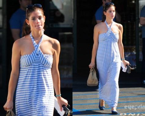 Ashley Greene in Splendid Chambray Stripe Maxi Dress