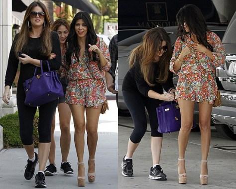 Kourtney Kardashian in Isabel Lu Romper