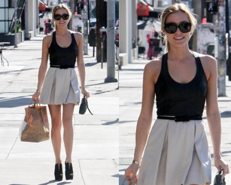 Kristin Cavallari steps out in Mason by Michelle Mason Combo Dress