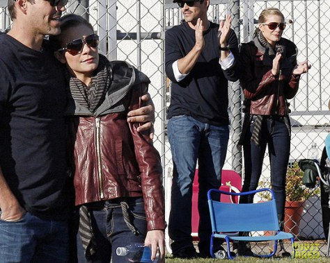 LeAnn Rimes wearing A.L.C. Helven Jacket at Soccer Game