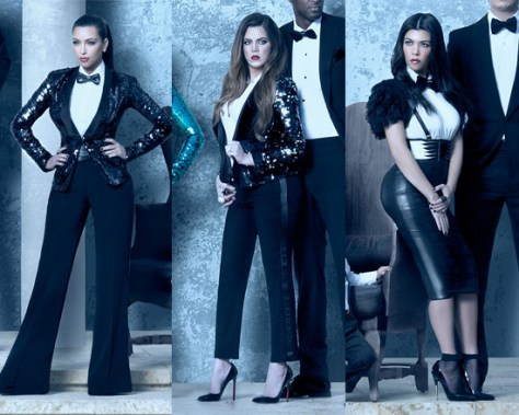 Kardashian Christmas Card - Kim, Khloé and Kourtney
