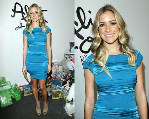 Kristin Cavallari in Alice + Olivia Soleil Off The Shoulder Dress