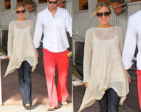Kristin Cavallari wearing West Coast Wardrobe Crochet Poncho