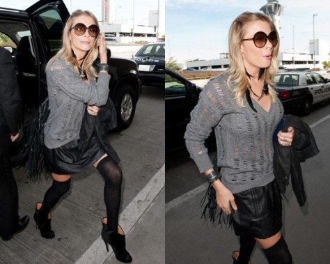 LeAnn Rimes steps out in Theory Saldia Light Leather Skirt