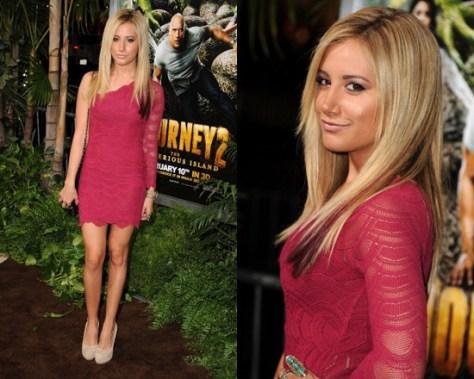 Ashley Tisdale in Nightcap One Sleeve Dress