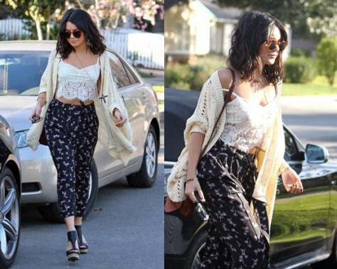 Vanessa Hudgens in Twelfth St by Cynthia Vincent Boxy Cardigan