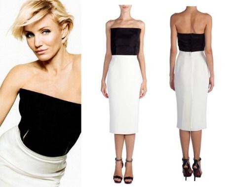 cameron-diaz-lanvin-bi-color-2-tone-dress