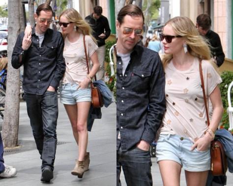 Kate Bosworth wearing Mulberry Effie star-embellished T-shirt
