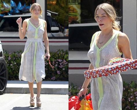 LeAnn Rimes in Rebecca Taylor Python Dress