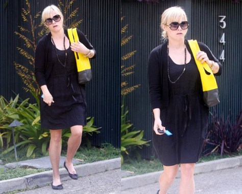 Reese Witherspoon wearing Rebecca Taylor Now Leather Dress