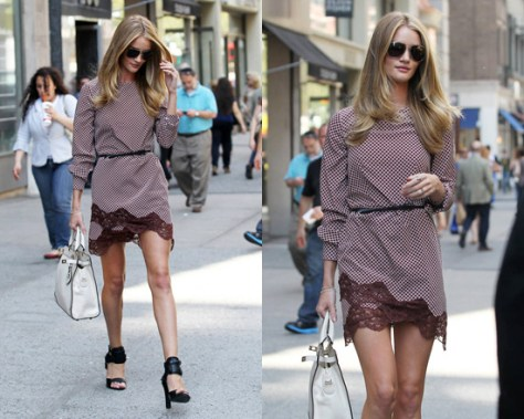 Rosie Huntington-Whiteley in Stella McCartney Portman Silk Dress
