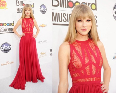 Taylor Swift in Elie Saab at 2012 Billboard Music Awards