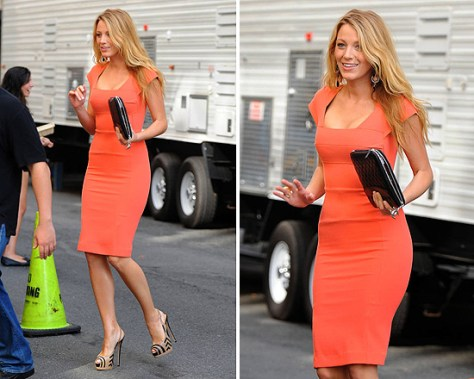 blake-lively-Roland-Mouret-India-Crepe-Dress-in-Tangerine