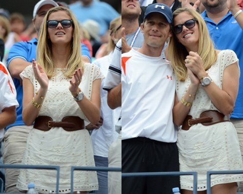 Brooklyn Decker in Club Monaco Lucie Dress at US Open