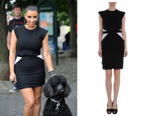 Kim Kardashian in Givenchy Short Dress on Project Runway
