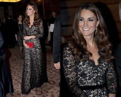 Kate Middleton in Temperley London Amoret Lace Gown