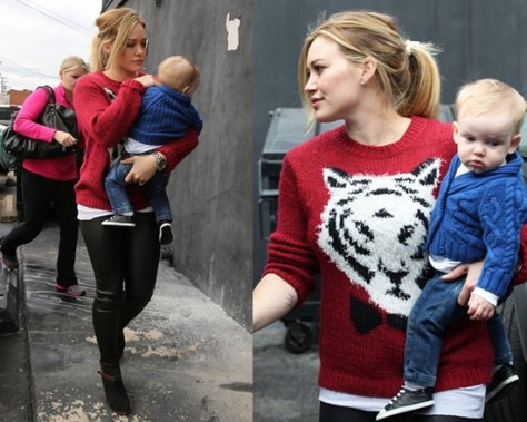 Hilary Duff wearing Pins And Needles Flocked Wildlife Pullover