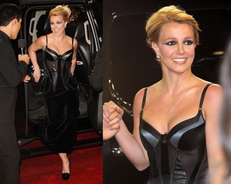 Britney Spears in Bottega Veneta Corset Dress at X Factor Season Finale