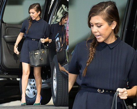 Kourtney Kardashian in Raoul Pippa Dress