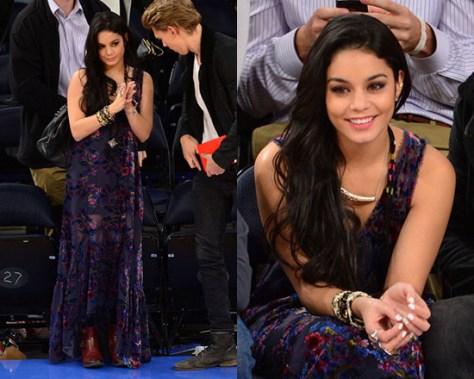 Vanessa Hudgens in Free People Burnout Velvet Maxi
