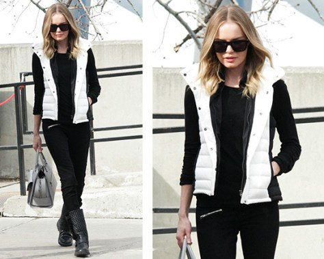 Kate Bosworth wearing Theory Courchevel Classic Puffer Vest