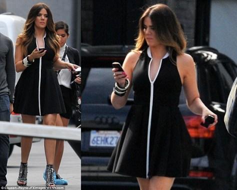 Khloe Kardashian wearing T by alexander wang Sleeveless Neoprene Dress