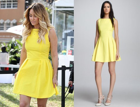 Lauren Conrad in Skaist Taylor Pamela Pleated Poplin Dress