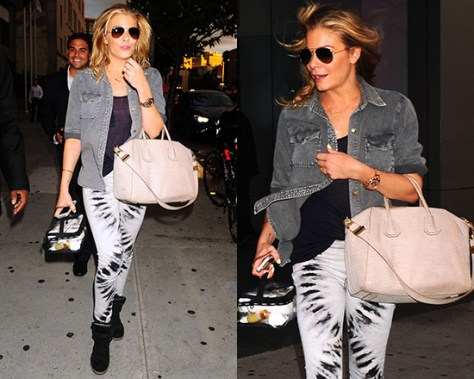 LeAnn Rimes steps out in James Jeans Twiggy Legging Jeans in Skelly