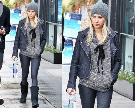 Ashley Tisdale steps out in Gypsy05 Foundation Lounge Sweater