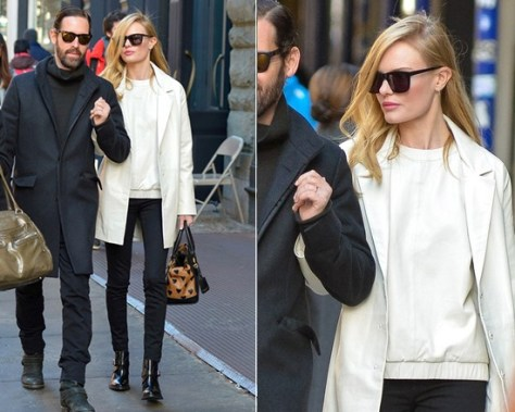 Topshop 'The Collection Starring Kate Bosworth' Leather Coat