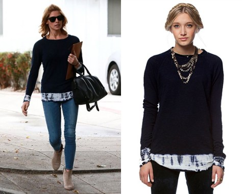 Ashley Greene steps out in Gypsy05 Linen Jersey Raglan Top