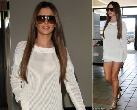 Cheryl Cole steps out in Maison Martin Margiela MM6 Glitter Boots