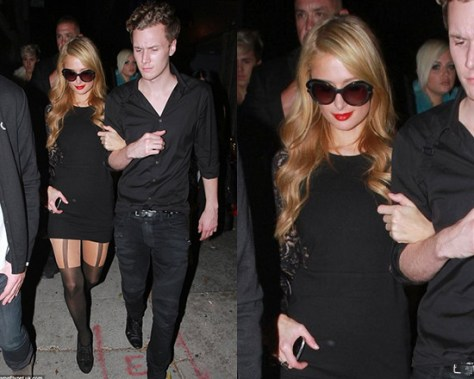 Paris Hilton in Alice By Temperley 'Solitaire' Dress
