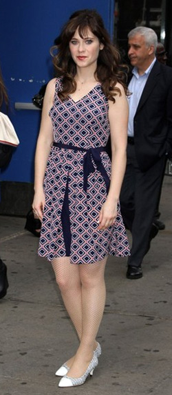 Zooey Deschanel for Tommy Hilfiger Sleeveless Diamond-Print Dress