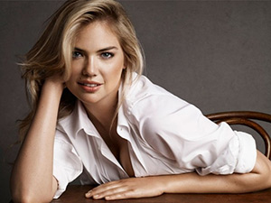 Kate Upton in Jil Sander Cotton-poplin shirt for Net-A-Porter's The Edit magazine, March 2015