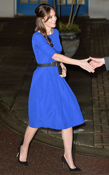 SALONI Martine crinkle-effect dress as seen on Duchess of Cambridge, Kate Middleton