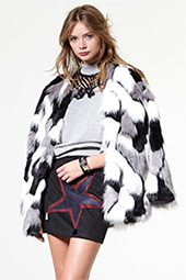 Storets Wanderlust Faux Fur Coat as seen on Nicole Richie