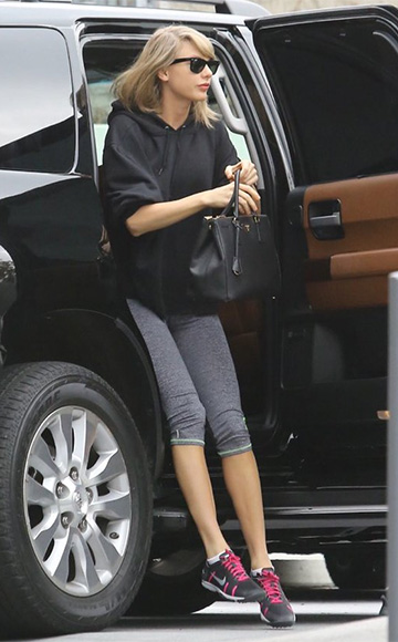 Superdry Gym Running Capri Leggings as seen on Taylor Swift