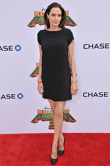 Saint Laurent Short Shift Dress as seen on Angelina Jolie